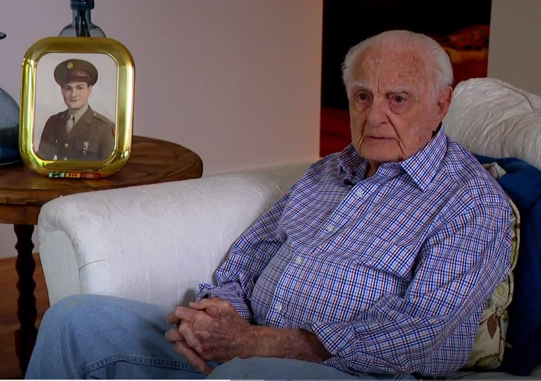 Larry Hoffman landed on the beach of Normandy six days after the D-Day invasion, and fought in the Battle of the Bulge. Photo: WLOS staff