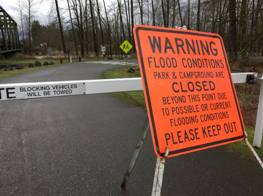 Precautionary park closures at Tolt River in Carnation. (KOMO News)<p></p>