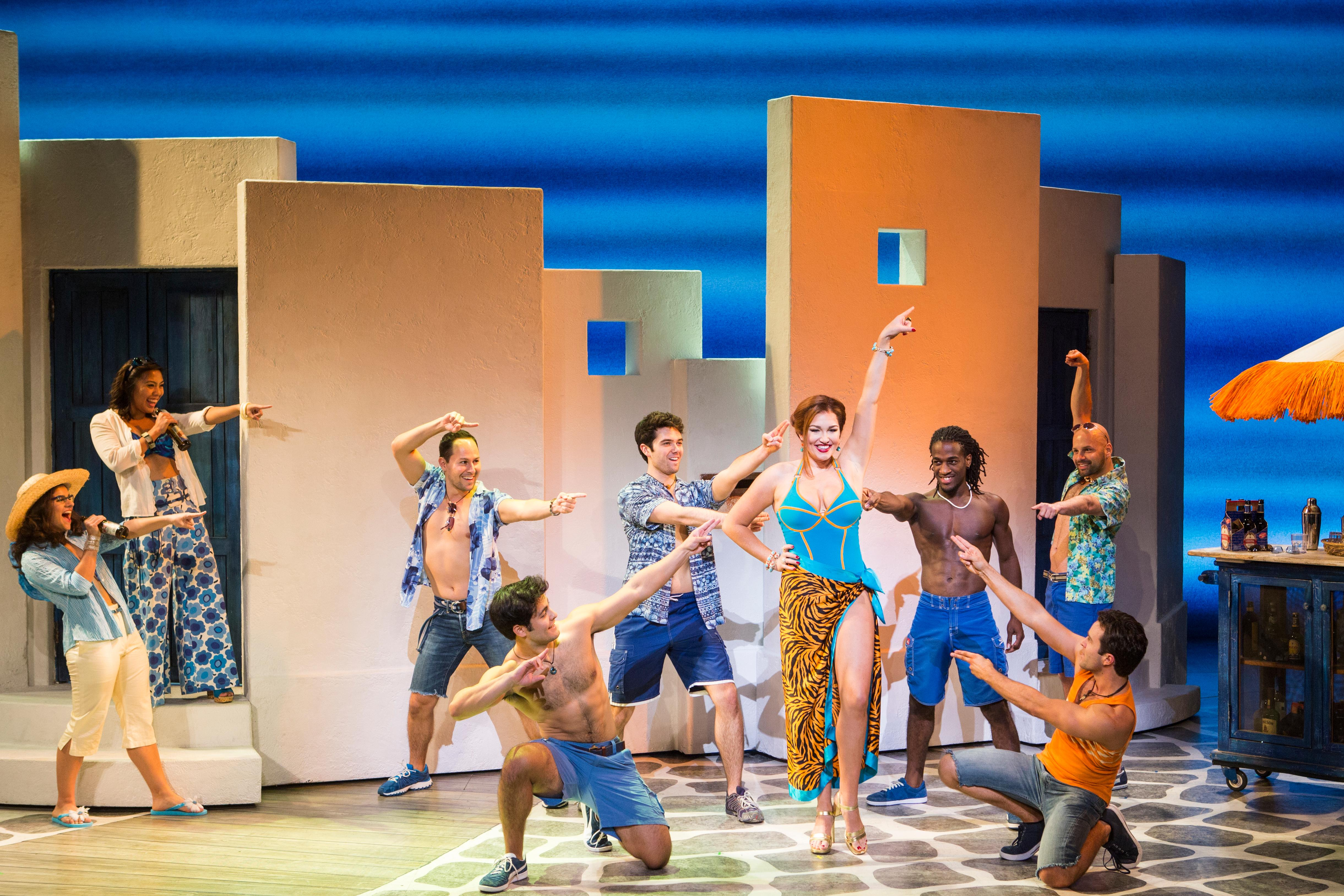 The musical, Mamma Mia, is playing right now at Seattle's Paramount Theatre and it's your last chance to see it. (Image: The Paramount)