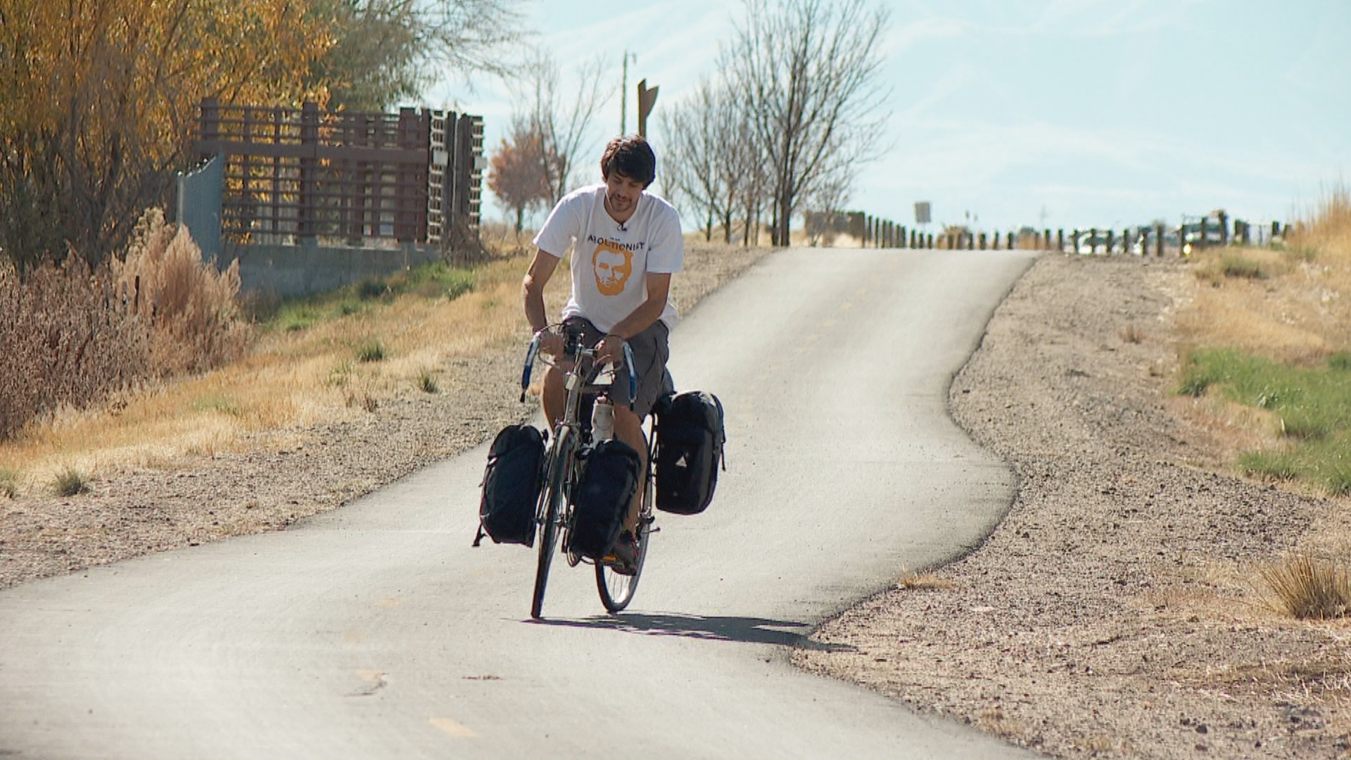 Pay it Forward: Utah man bicycles across U.S. to fight sex trafficking (Photo: KUTV)