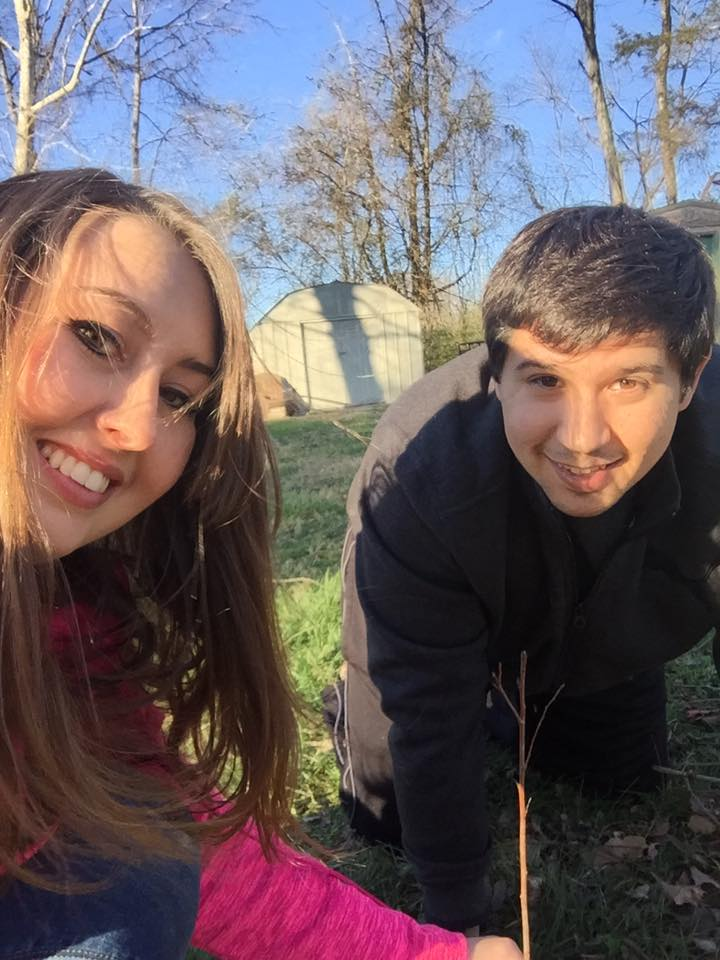 """We planted our trees today. What a beautiful way to add to our first home together!"" - Hayley Furcean, Putnam County. (Tennessee Environmental Council )"