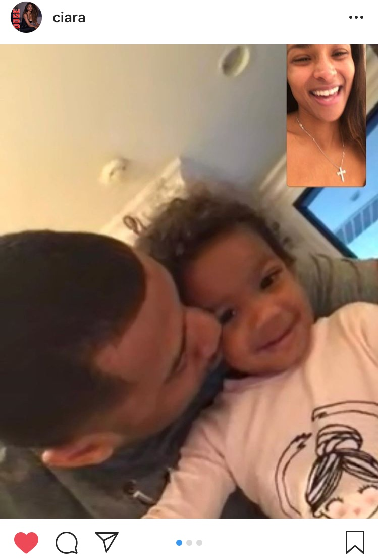 That one time he missed his boo so he facetimed her (swoon)...Happy 30th, Russell! (Image: @ciara / Instagram.com/ciara){ }