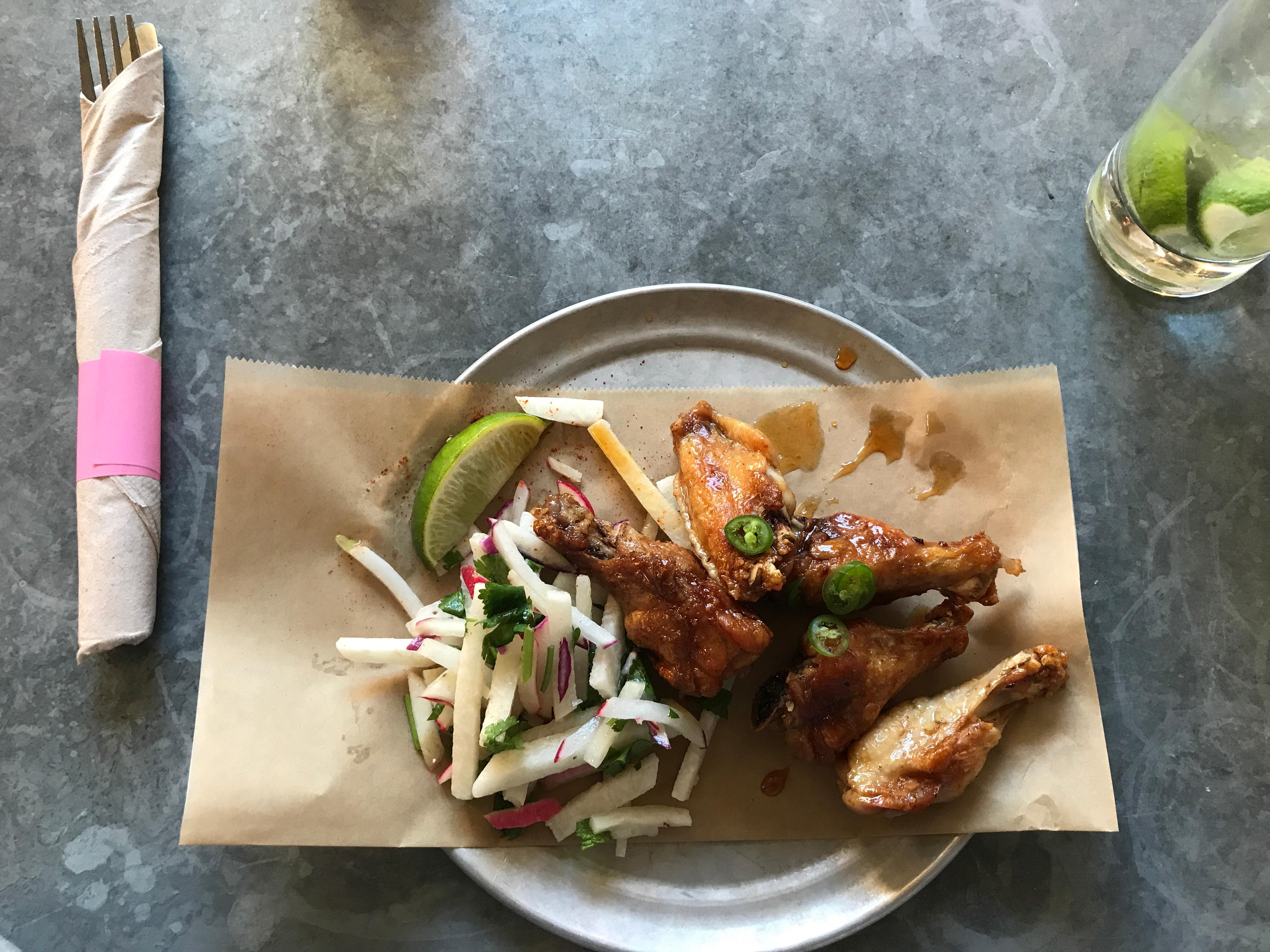 Chicken wings at Copal. (Image: Frank Guanco)