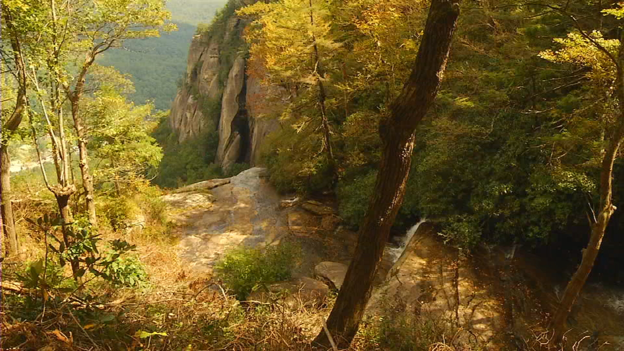 Visitors at Chimney Rock State Park can now reach new heights through the new Skyline Trail. (Photo credit: WLOS staff)
