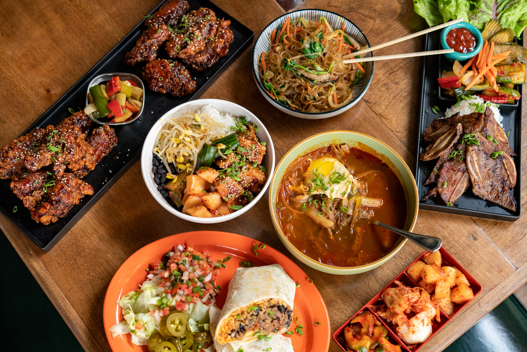 "New favorite restaurant alert!{&nbsp;}<a  href=""https://www.lazysusanseattle.com/"" target=""_blank"" title=""https://www.lazysusanseattle.com/"">Lazy Susan{&nbsp;}</a>just opened in Lower Queen Anne and is a fusion between Korean and Mexican cuisine. Located in the former Crow space, the founder and restaurateur, Suzana Olmos, has a compelling personal, family story which is the motivation behind her new venture. Suzana is also the brains behind the very popular{&nbsp;}<a  href=""http://www.citizencoffee.com/"" target=""_blank"" title=""http://www.citizencoffee.com/"">Citizen Café & Bar and Citizen Campfire</a>{&nbsp;}only a few blocks away. Lazy Susan is open for dinner and focuses on a crafty happy hour and cocktail service, with two boozy slushie machines up its sleeve. A weekend brunch service is coming soon. (Image courtesy of Lazy Susan)."