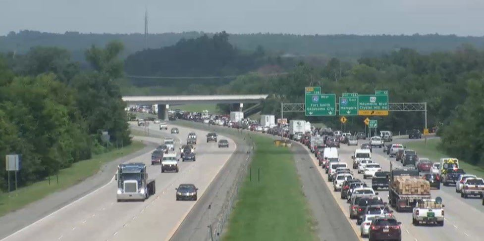 North Little Rock Police are assisting agencies at I-430 north just south of I-40 with a developing incident. (Photo:  Arkansas Department of Transportation)