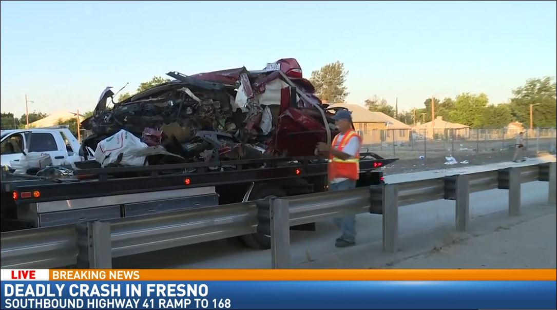 Cleanup continues at deadly Fresno crash
