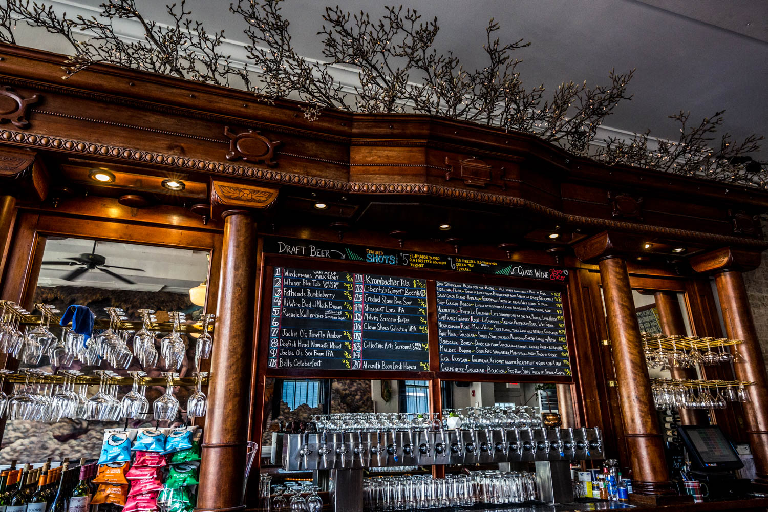 PLACE: Liberty's Bar & Bottle Shop / ADDRESS: 1427 Main Street (Over-the-Rhine) / Stop by Liberty's wine and beer bar with doggos to try one of their 15 glasses of wines or one of the 20 rotating drafts. If you're in the market to take some home, you can shop among the 40 craft beers and 100 bottles of wines. Dogs are really helpful at picking the best kinds. / Image: Catherine Viox // Published: 10.14.19