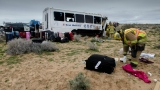 1 killed, 26 injured in Hwy 58 tour bus crash