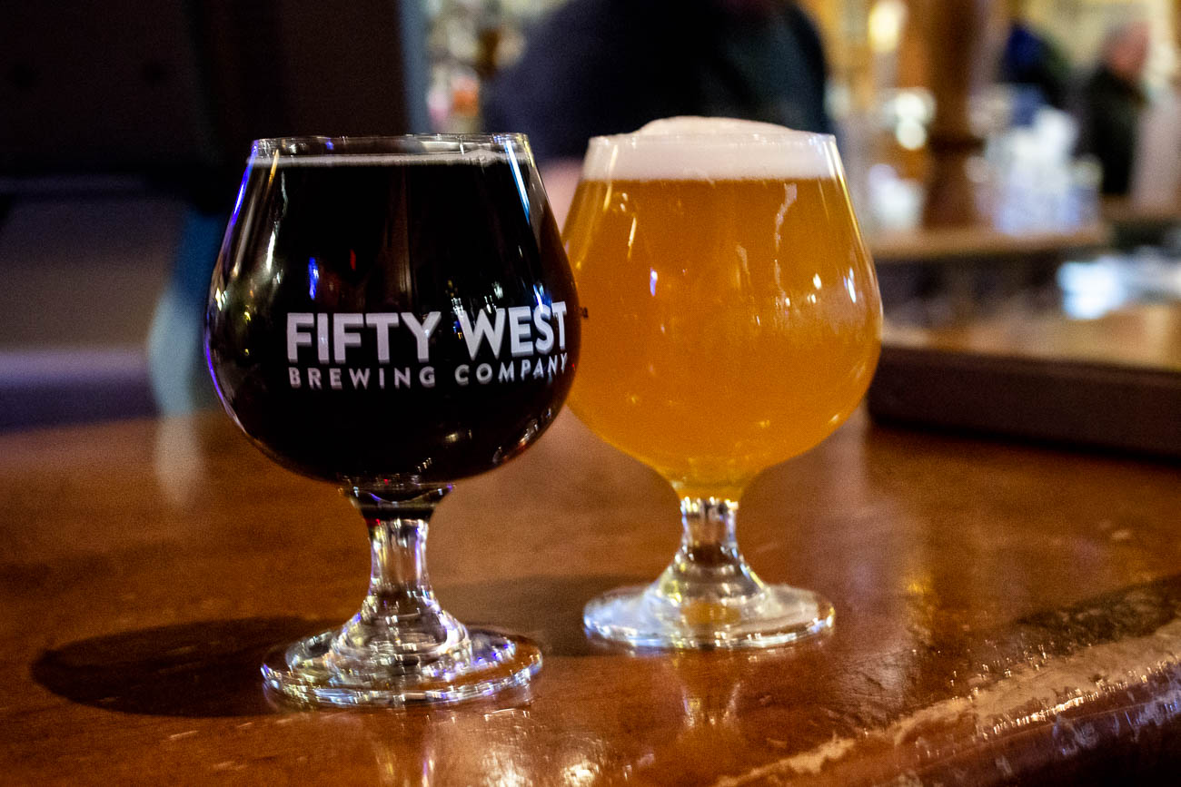Some cold Fifty West brews after a night run at The Pub in Rookwood{&amp;nbsp;}/ Image: Katie Robinson, Cincinnati Refined // Published: 1.27.19<p></p>