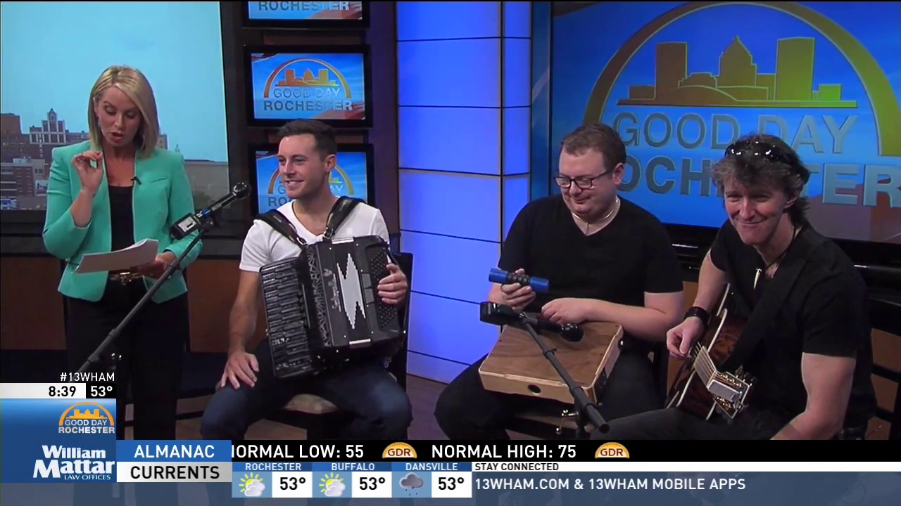 Nathan Carter performs on Good Day Rochester.