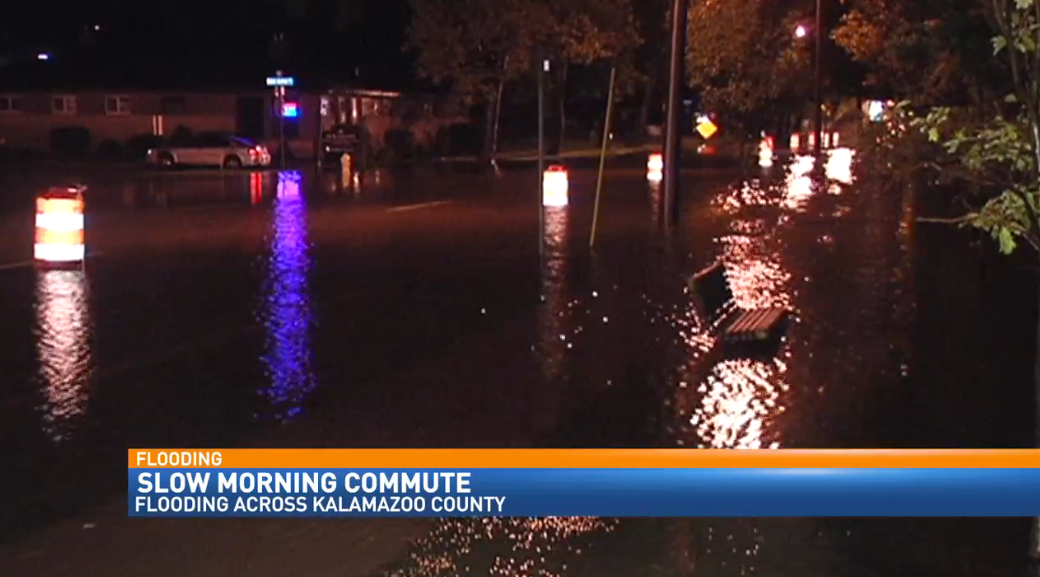 Flooding in Kalamazoo caused by the overnight rains.