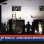 Two-story garage destroyed in fire