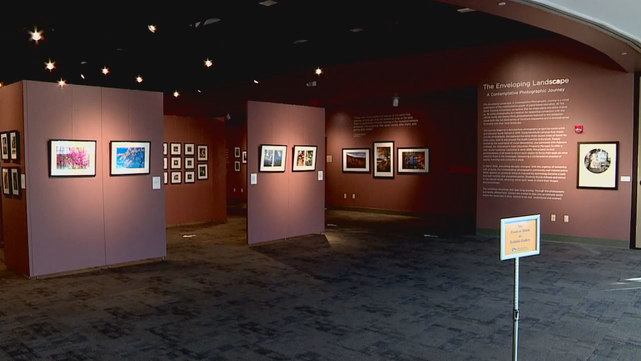 "<p>The N.C. Arboretum's newest exhibit is called ""The Enveloping Landscape: A Contemplative Photographic Journey,"" and features both novice and experienced photographers showcasing shots of southern Appalachian landscapes. (Photo credit: WLOS Staff)</p>"