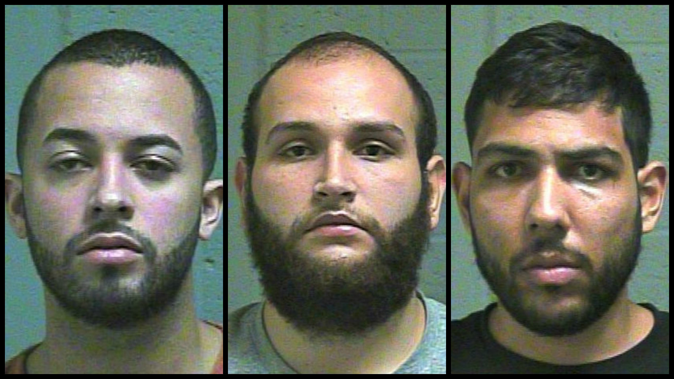 Three men were arrested Oct. 17 in Edmond after allegedly being caught attempting to install a skimmer on an ATM. (Oklahoma County Jail)