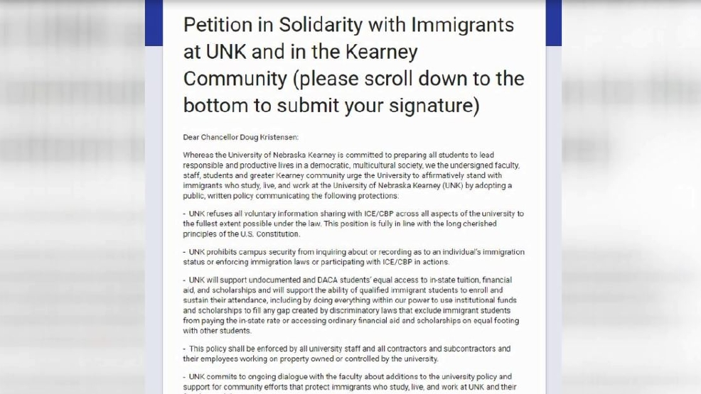 Unk Faculty Write Petition In Support Of Immigrant Students On