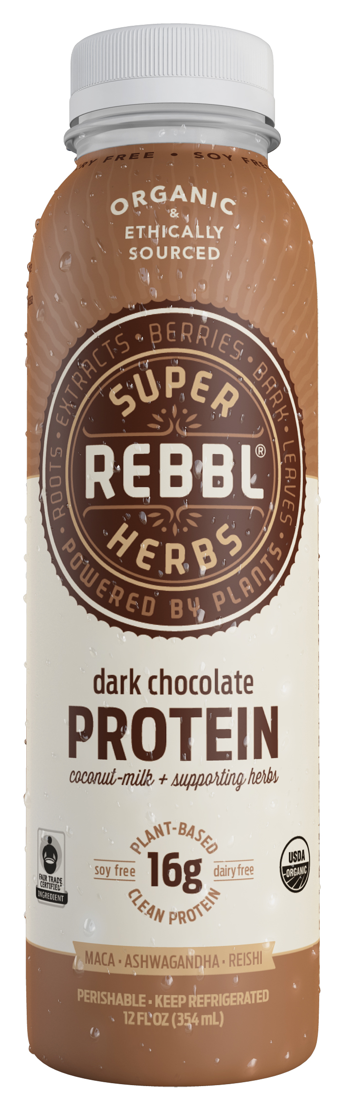 Rebbl Chocolate Protein Smoothie. I need chocolate daily. But I also want better nutrition. This is often a way to accomplish both. Too often smoothies don't provide enough protein or it is from a source that I don't approve. These are plant-based, nutrient balanced and are dairy-free better liquid nutrition which means they are perfect for me on a stressful day because during stress the body doesn't prioritize digestion so liquids are a better nutrition win! //Ashley Koff, RD and founder of Ashleykoffapproved.com// (REBBL)