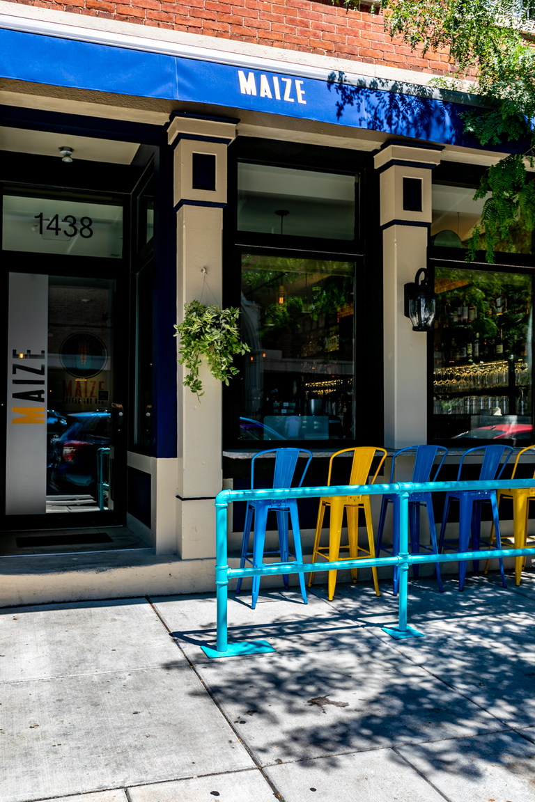 Maize Arepas and Bar is a restaurant at the corner of 15th and Race Streets in Over-the-Rhine that serves all manner of South American-inspired cuisine and alcoholic drinks in a sophisticated space. ADDRESS: 1438 Race Street (45202) / Image: Phil Armstrong, Cincinnati Refined // Published: 8.1.18
