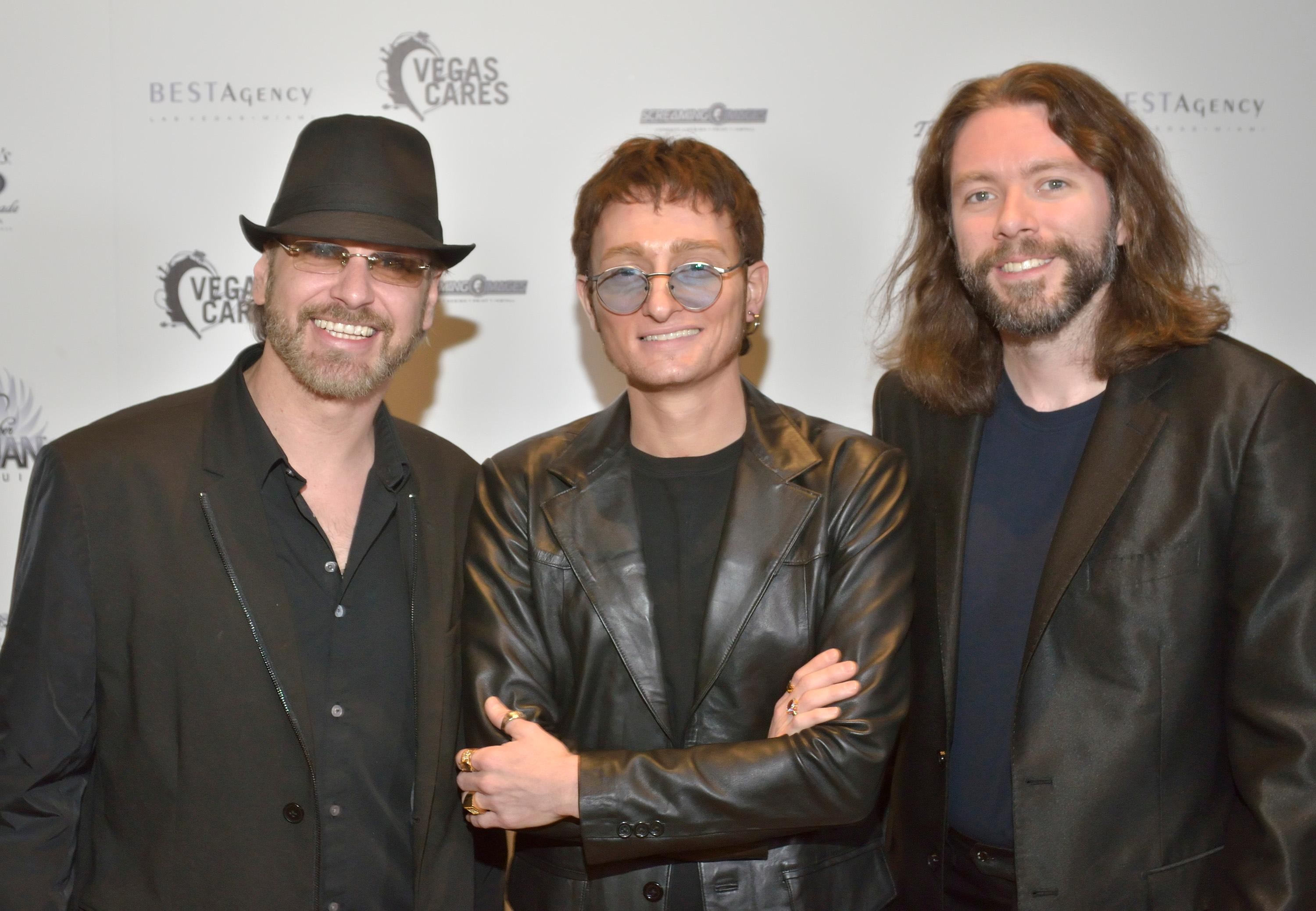 "Members of ""The Australian Bee Gees Show"" are shown at the ""Vegas Cares"" benefit concert at the Venetian Theatre in the Venetian hotel-casino at 3355 S. Las Vegas Blvd in Las Vegas on Sunday, Nov 5, 2017. The concert was sponsored by a group of Las Vegas entertainers, producers and business professionals to honor the victims and first responders from shooting at the Route 91 Harvest festival. (Photo/Las Vegas News Bureau/Bill Hughes)"