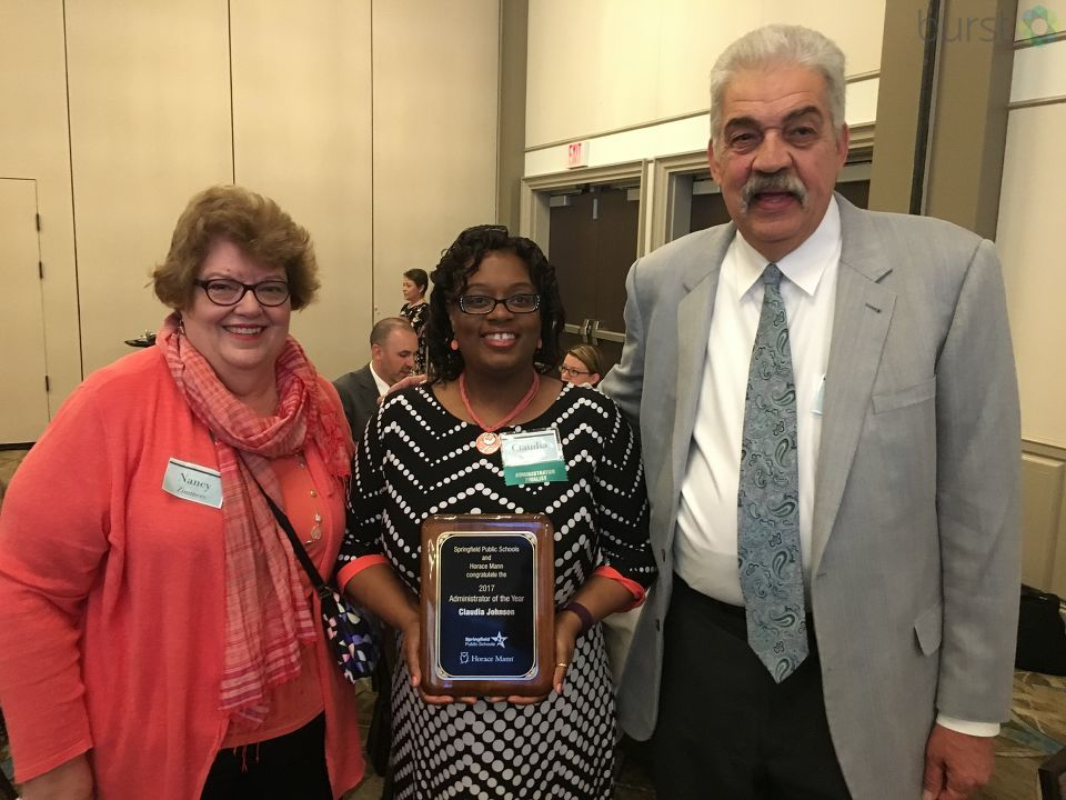 Claudia Johnson, Enos Elementary School Principal, won Administrator the Year. (Photojournalist Shawn Shanle)