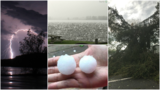 GALLERY | Hail, lightning and strong winds pound CNY