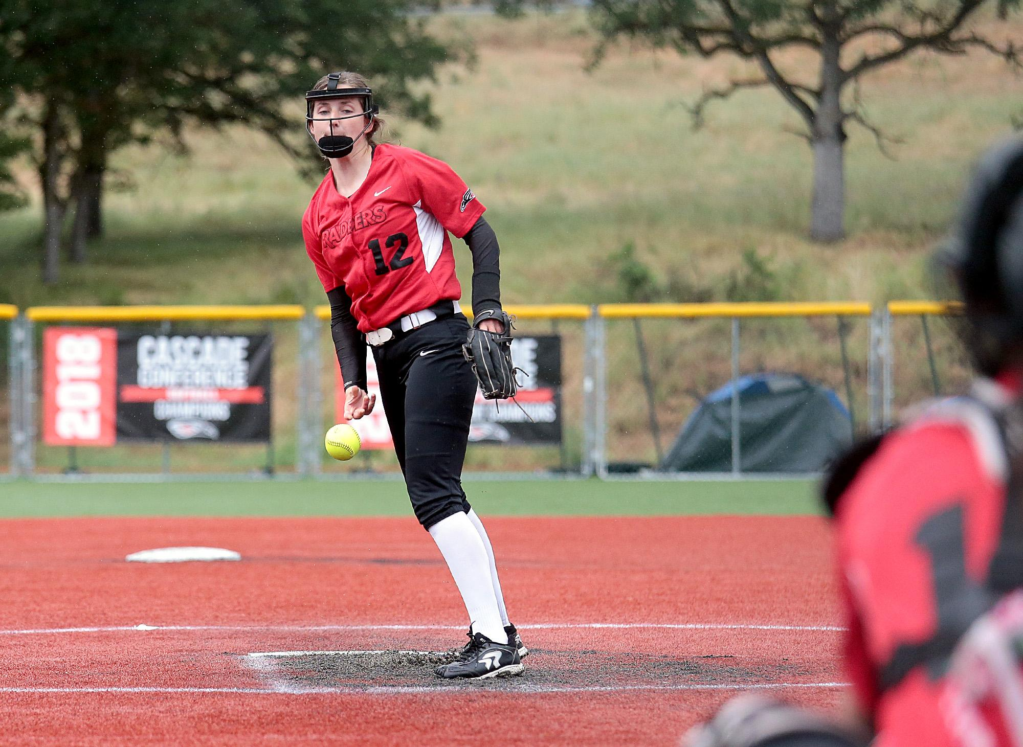 Larry Stauth Jr./For the Daily TidingsSouthern Oregon University freshman right-hander Allie Hancock allowed seven hits and three runs while pitching into the fifth inning against St. Francis at U.S. Cellular Community Park on Wednesday.