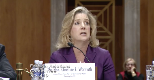 Photo: Senate Foreign Relations Committee / Former Under Secretary of Defense for Policy Christine E. Wormuth<p></p>