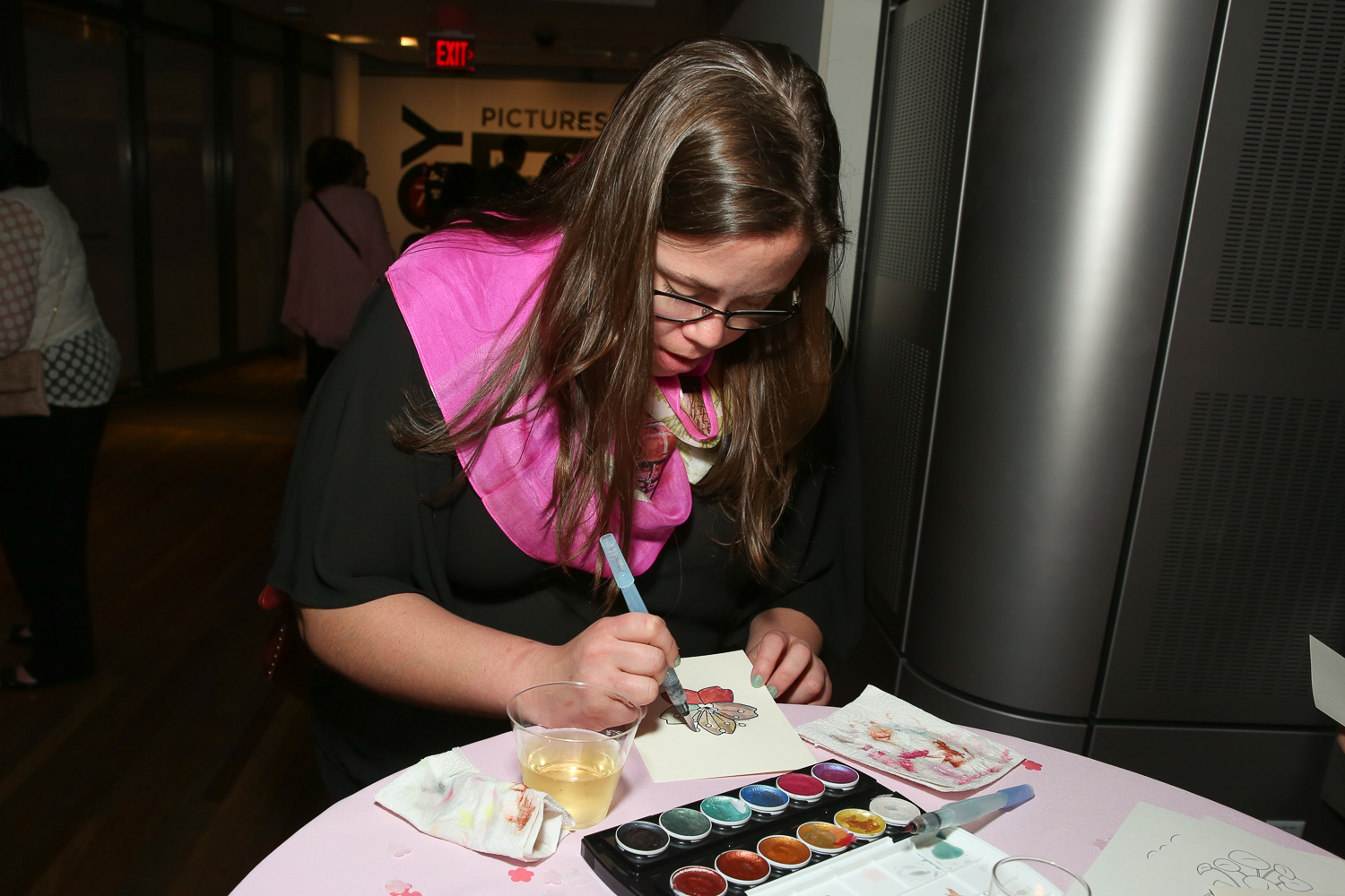 Water coloring was a popular activity.{ }(Amanda Andrade-Rhoades/DC Refined)