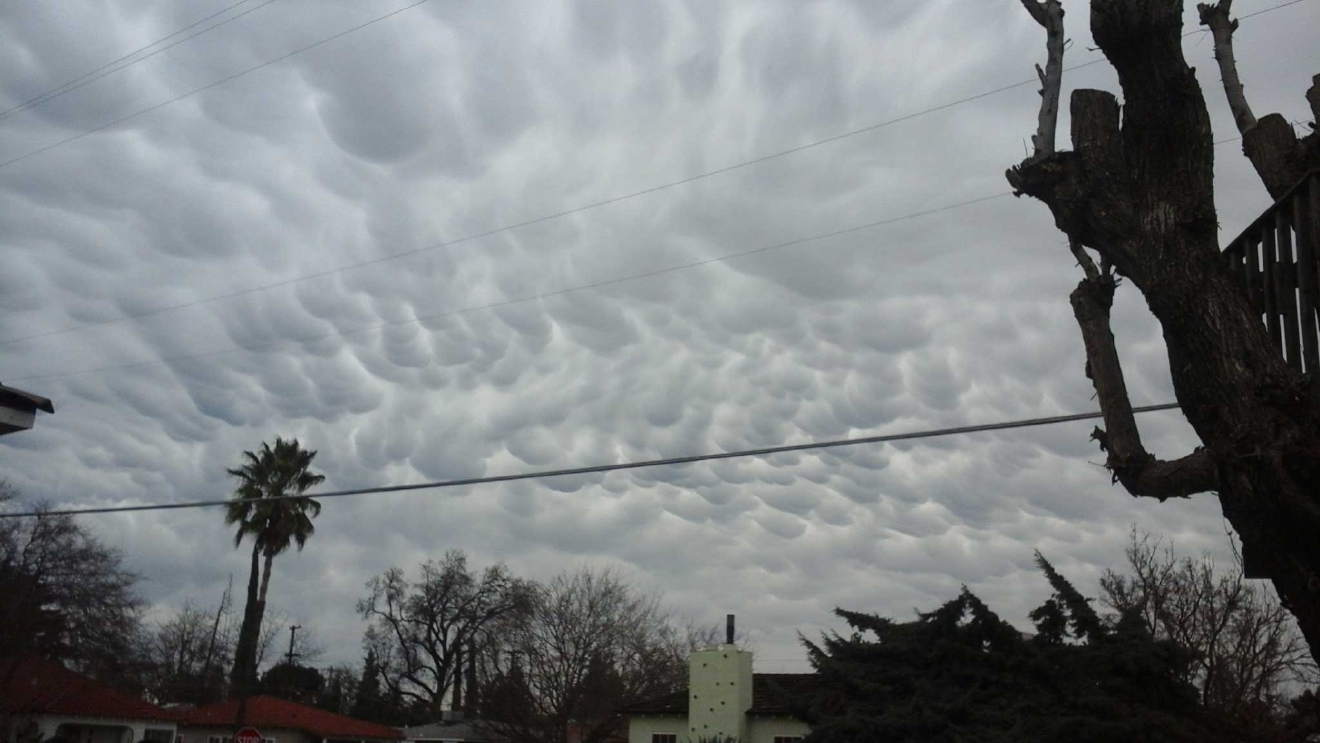 Unusual clouds over Madera by Margaret 2-9-17