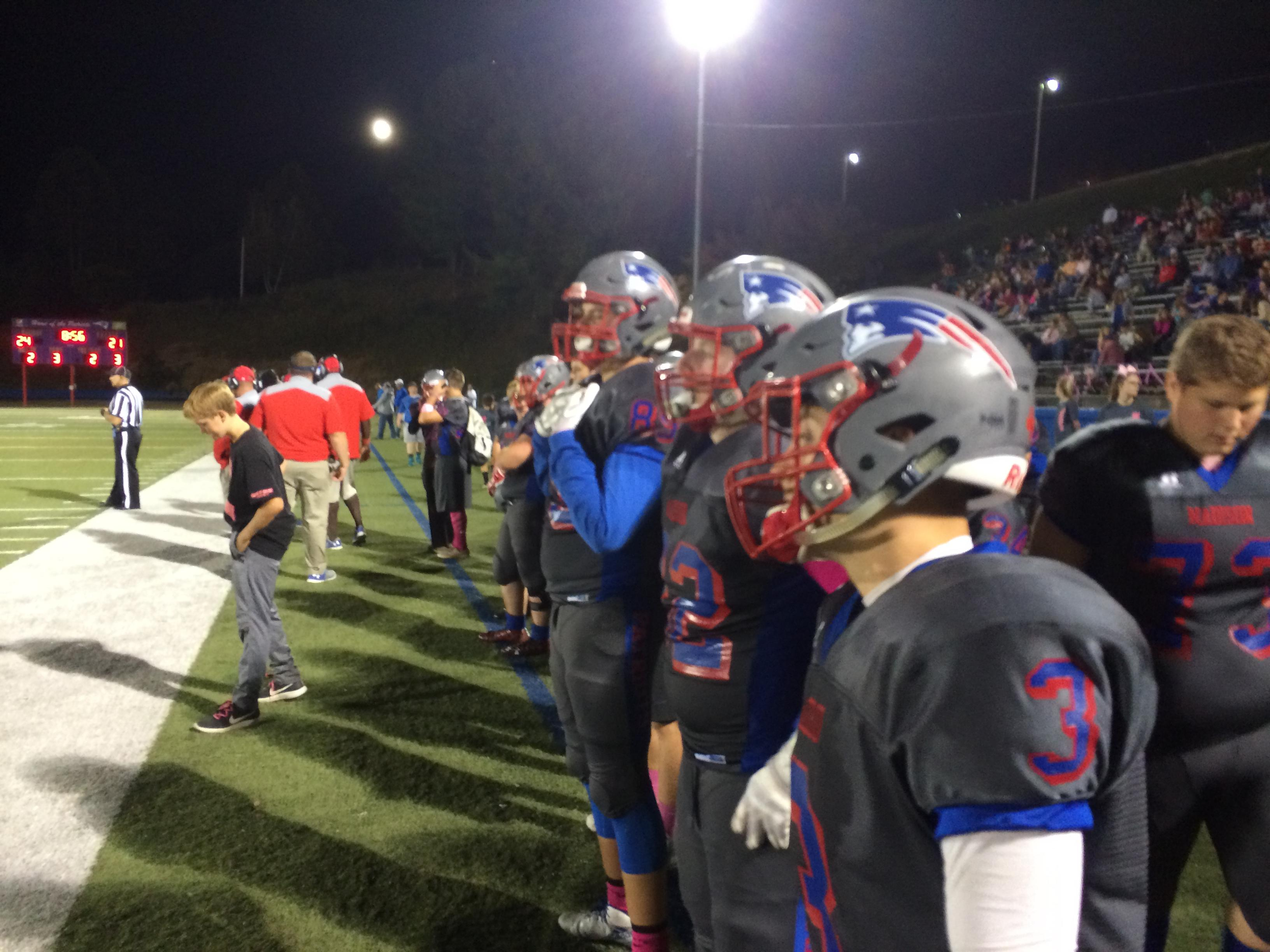 Avery vs Madison, 10-06-2017 (Photo credit: WLOS Staff)