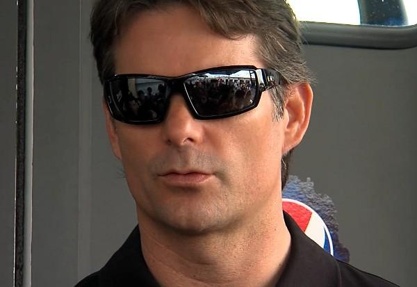 Sprint Cup driver Jeff Gordon speaks to the media at Talladega Superspeedway Friday, May 3, 2013.