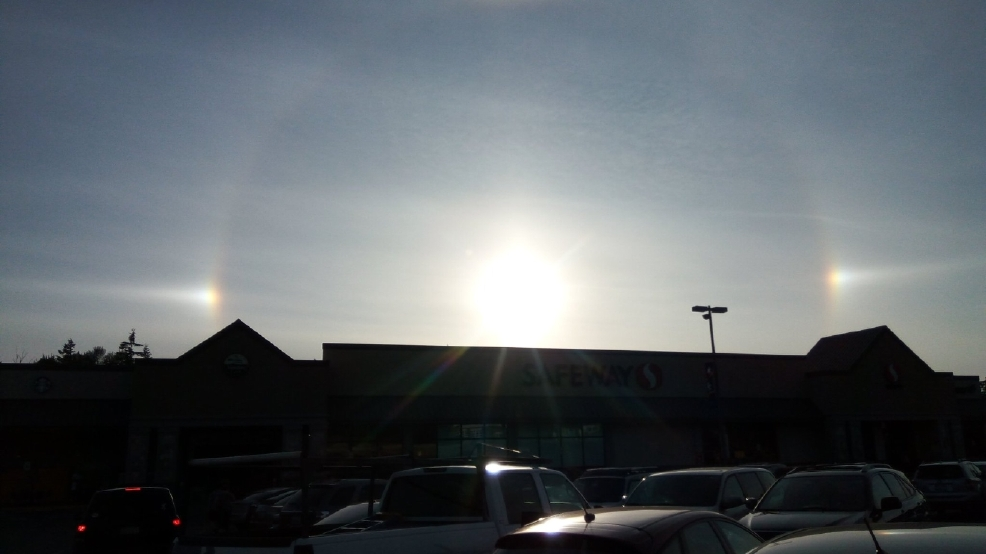 Photos: What was with the ring around the sun Friday evening?