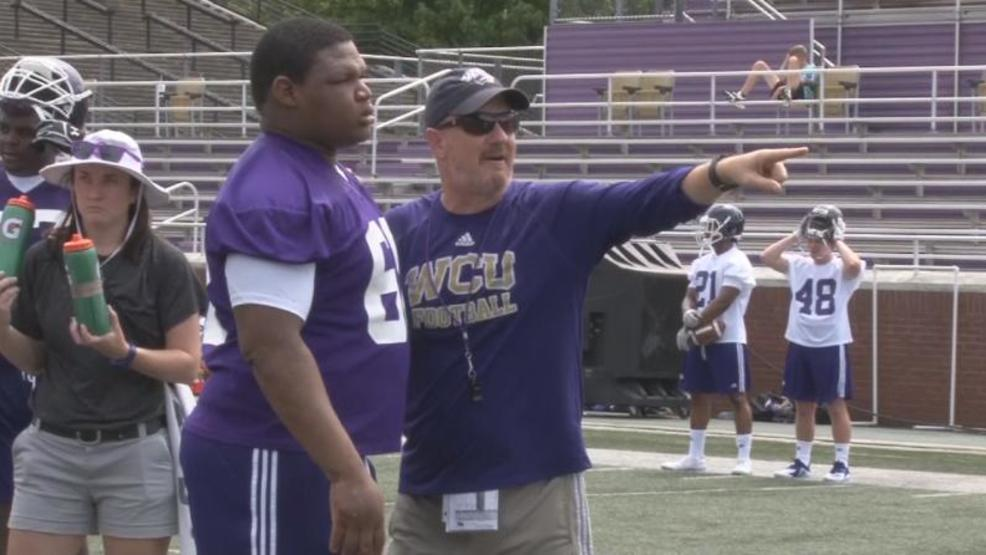 WCU head coach Mark Speir returns seven starters on offense and three on defense for 2018 (WLOS Staff).jpg