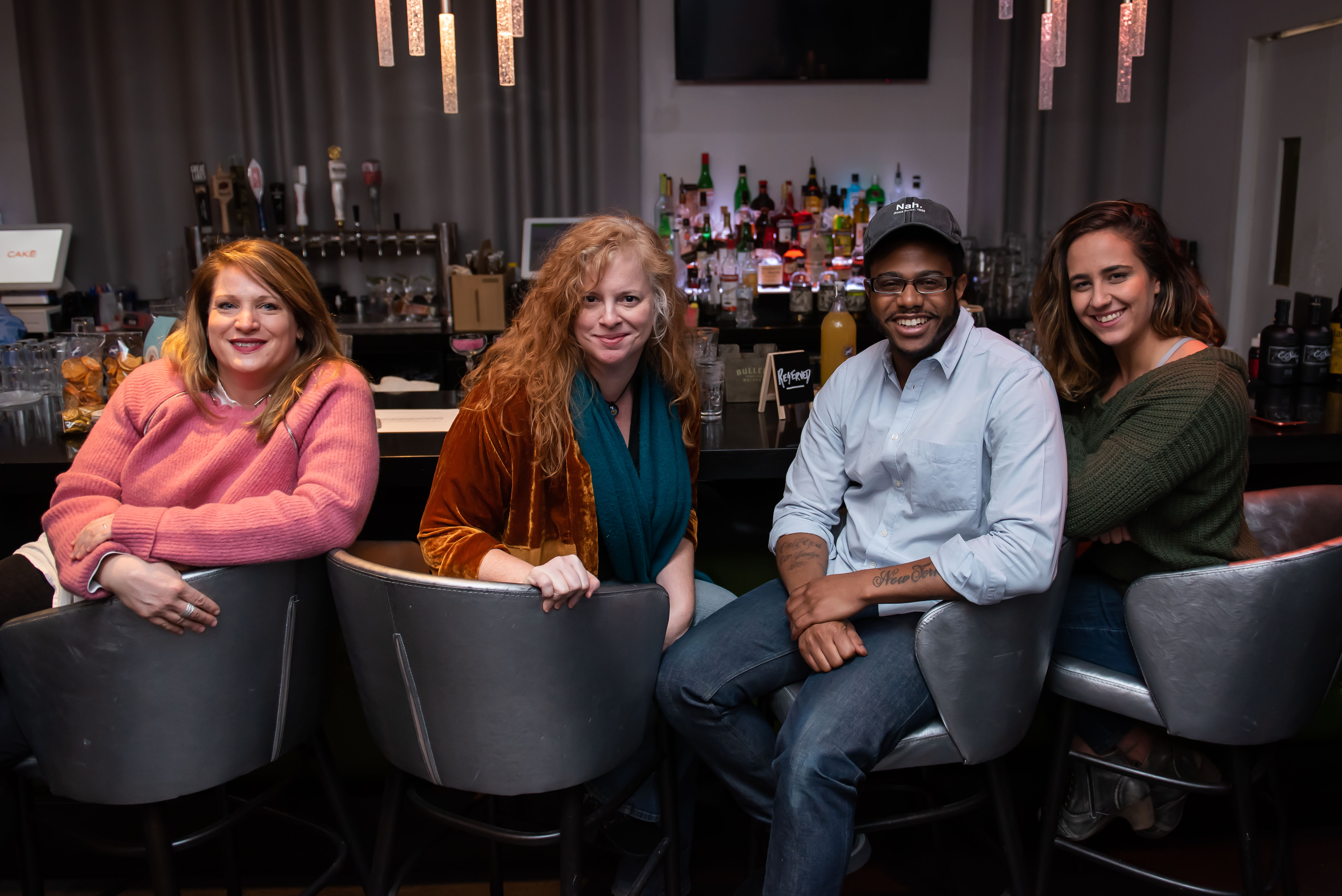 Celeb judges: Amy{ } Brandwein, M. Carrie Allan, Kwame Onwuachi and Carlie Steiner. (Image: Joy Asico / DC Refined)