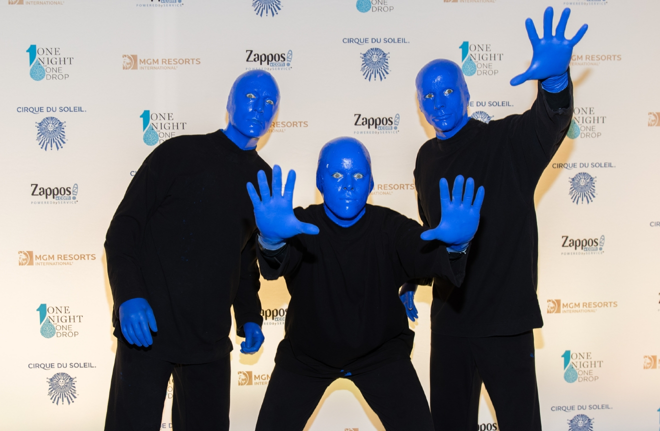 Blue Man Group at One Night for One Drop 2017. (Photo courtesy of Erik Kabik/ErikKabik.com)