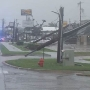 Lightning strike brings down power poles in northwest Oklahoma City