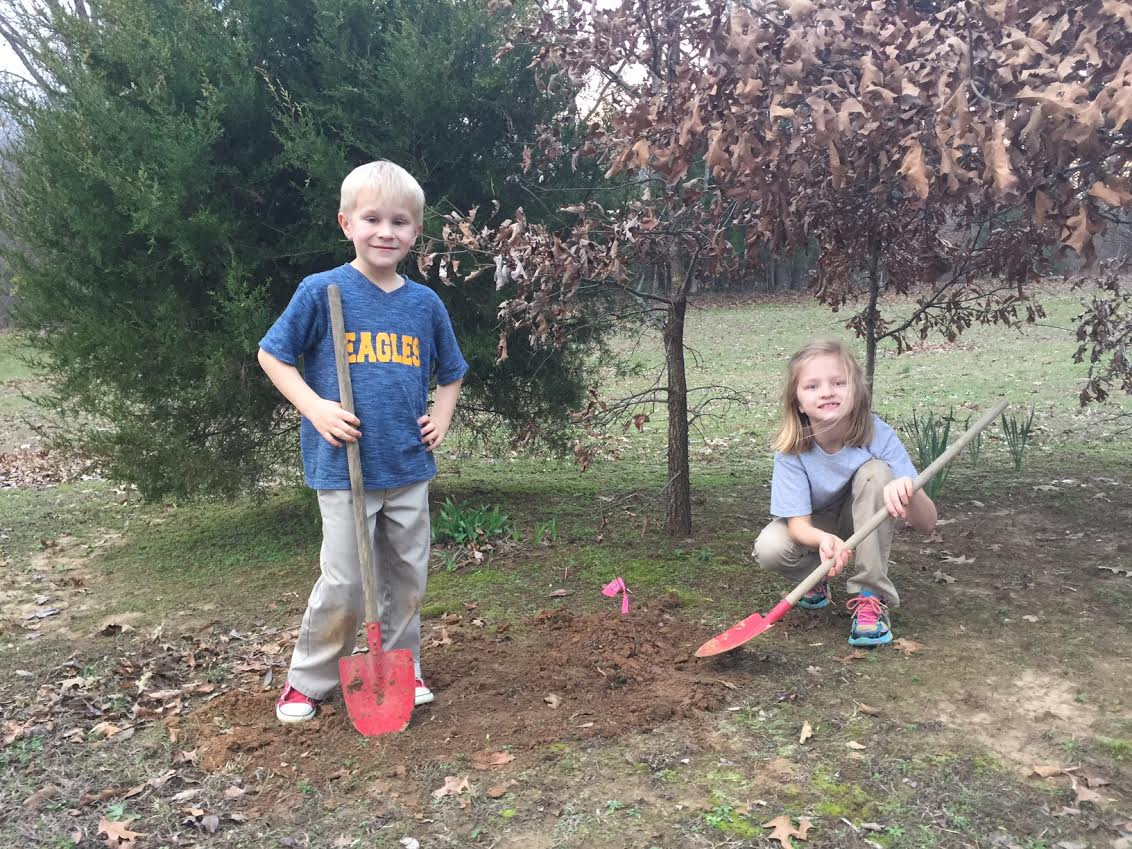 """We had fun planting our trees! Thanks!"" - Marty Matthews, Tipton County. (Tennessee Environmental Council)"