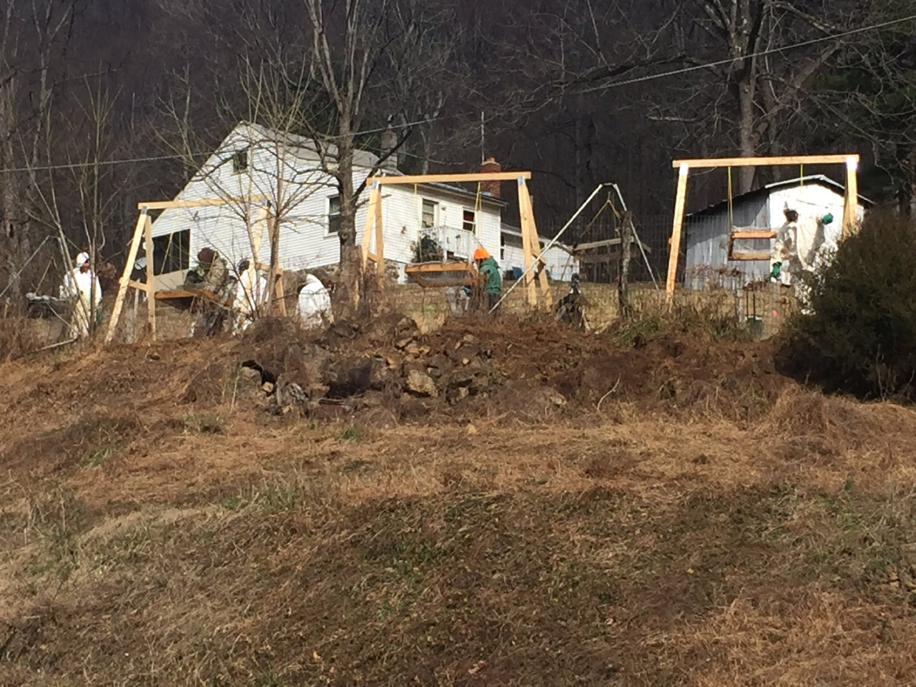 Bedford County authorities are sifting through dirt in area potentially linked to cold case of missing Lyons sisters (Photo: Valencia Jones)