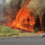 Wildfire east of Pendleton shuts down part of I-84