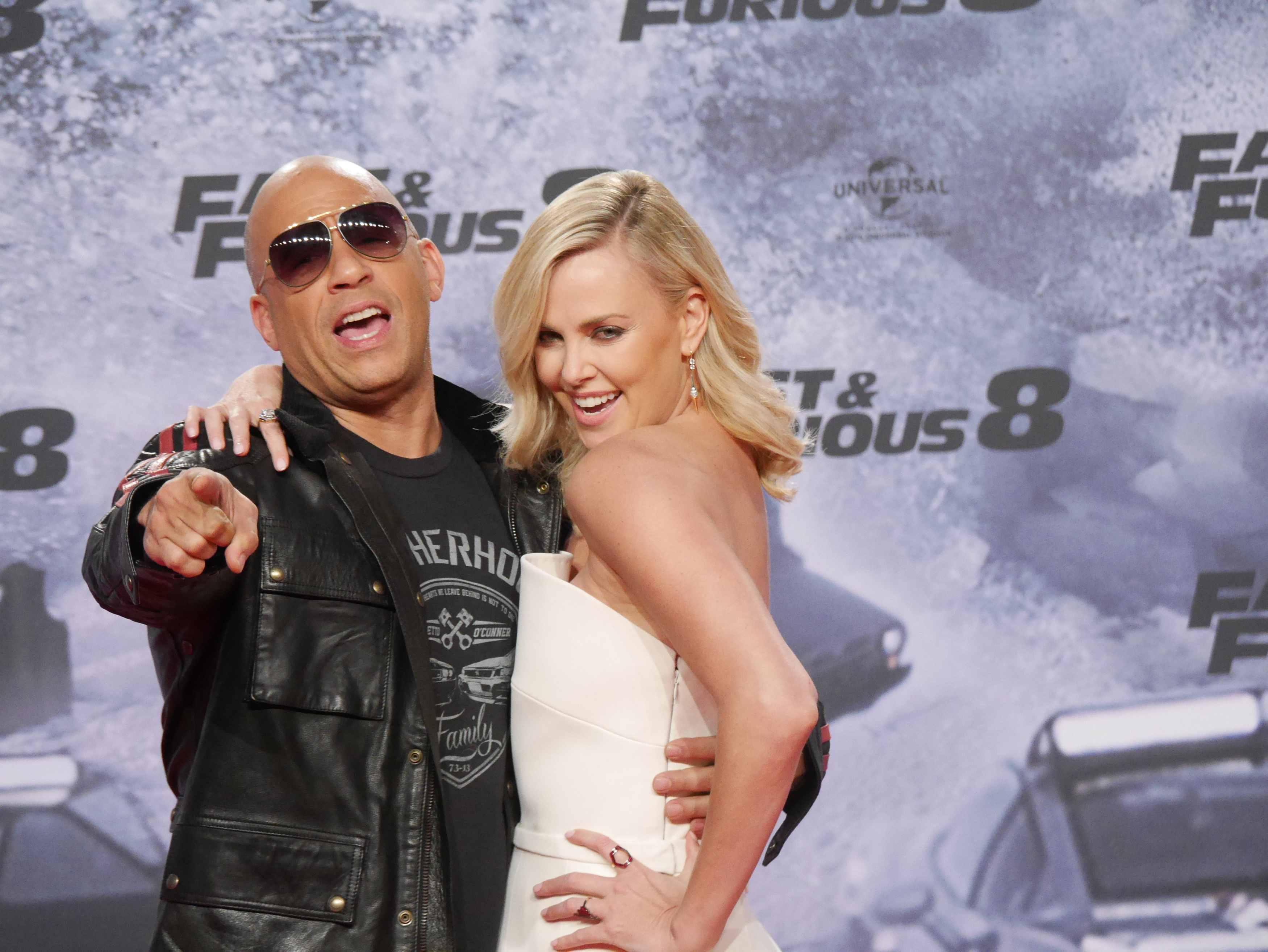 Premiere 'Fast and Furious 8' at CineStar Sony Center Potsdamer Platz.  Featuring: Vin Diesel, Charlize Theron Where: Berlin, Germany When: 04 Apr 2017 Credit: WENN.com
