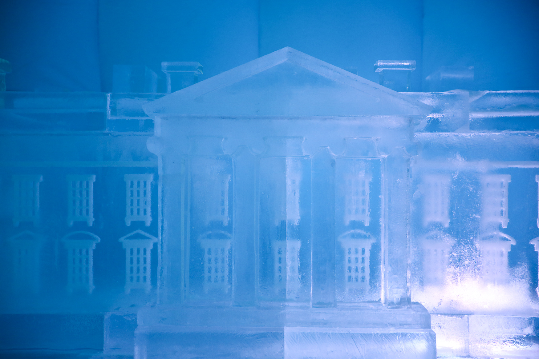 This weekend, you can head over to CityCenterDC to catch some of the monuments in ice form. The sculptures were carved out of 50,000 pounds of ice and reach up to 12 feet tall. The tent that holds the monumental ice sculptures will be open from 10:00 am - 2:00 pm and 4:00 pm - 9:00 pm until Sunday. (Amanda Andrade-Rhoades/DC Refined)