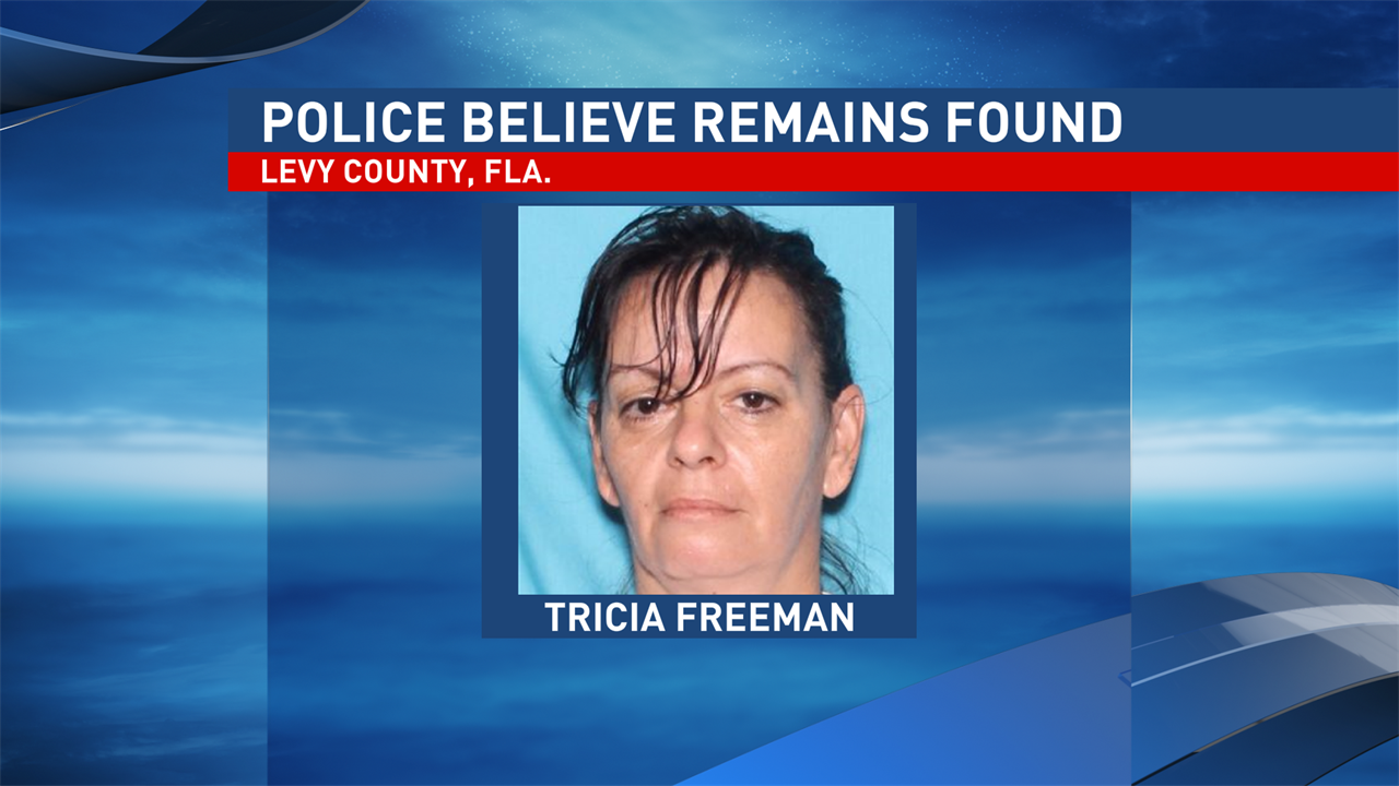 Police say remains found in Levy County, Fla., are believed to be those of a woman missing since last Monday.  The remains are believed to be those of Tricia Freeman, 47, of Palmetto, Fla. according to a news release from the Palmetto Police Department. (WFTS Photo)