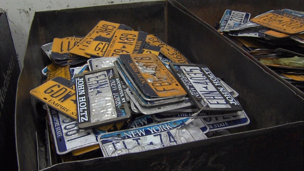 Nys dmv to replace peeling license plates for free wham for Rochester department of motor vehicles