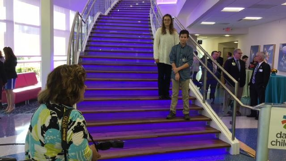 Video: Dayton Children's opens new care center by lighting ...