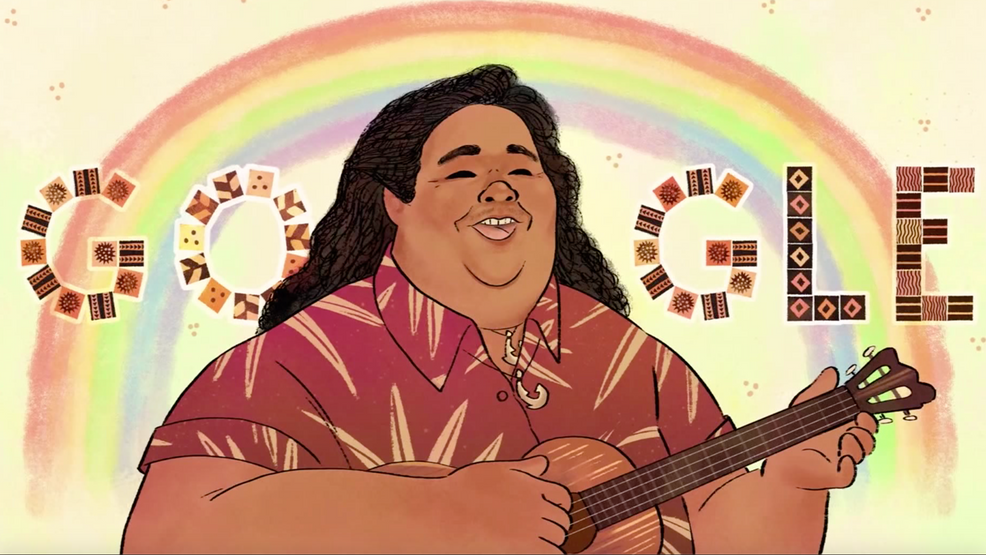 Google honors famous Hawaiian artist, known for 'Over the Rainbow,' on his 61st birthday