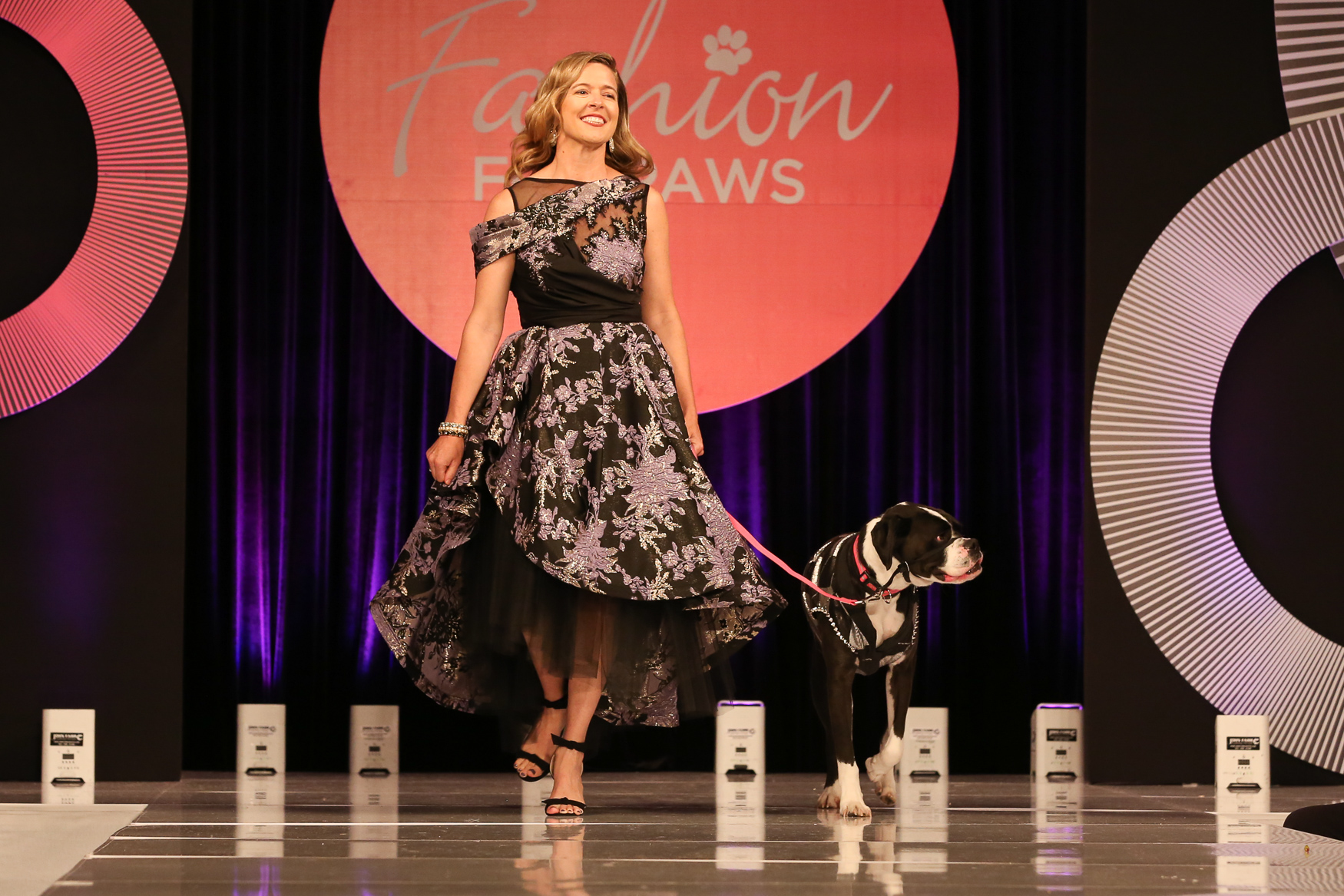 Spotted at Fashion for Paws: The high-low hemline and intricate flowers keep this dress busy, but not overwhelming.{ } (Amanda Andrade-Rhoades/DC Refined)