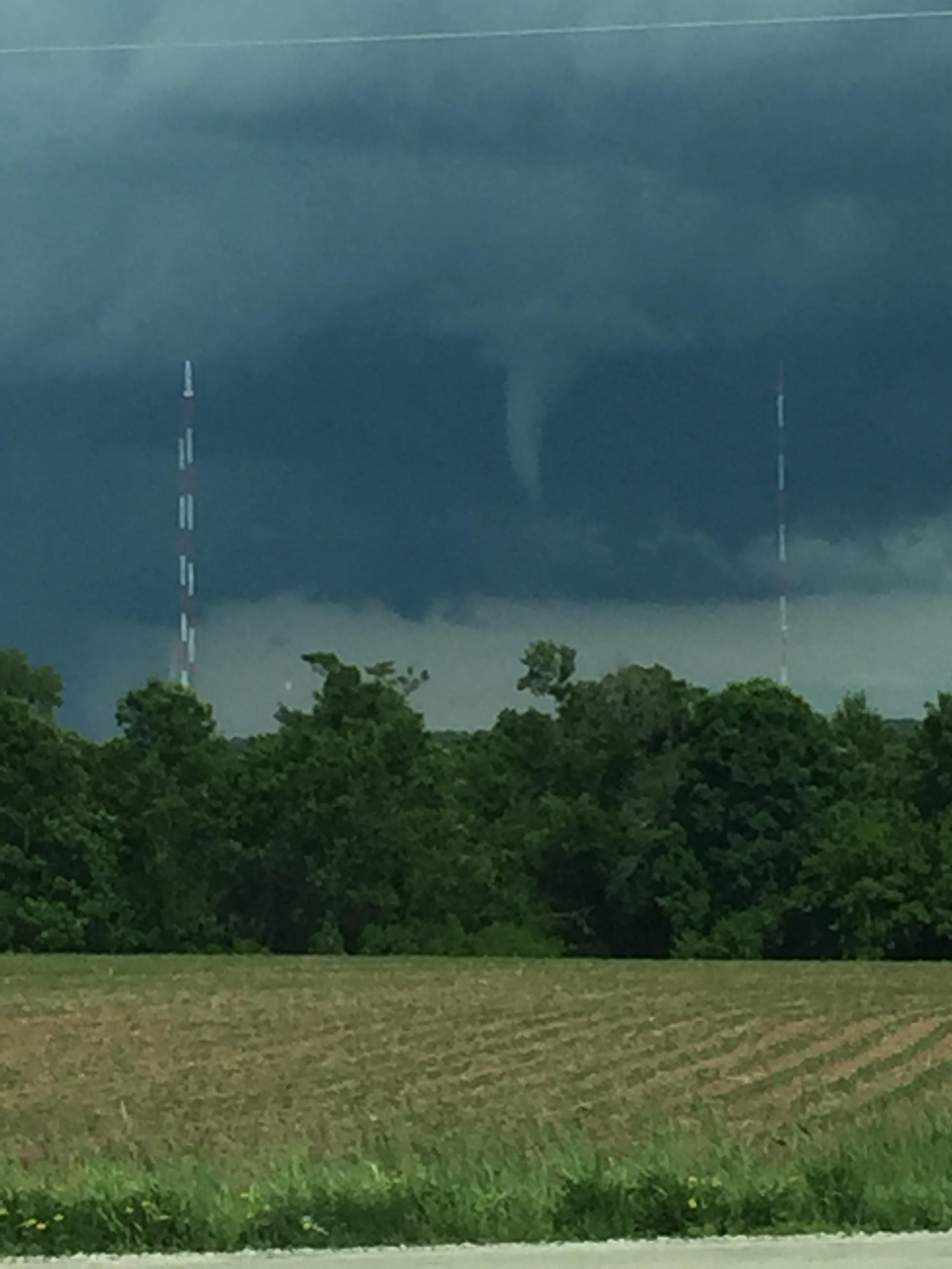 Funnel cloud seen over Ledgeview Saturday afternoon. (PHOTO: Todd Berry/WLUK)