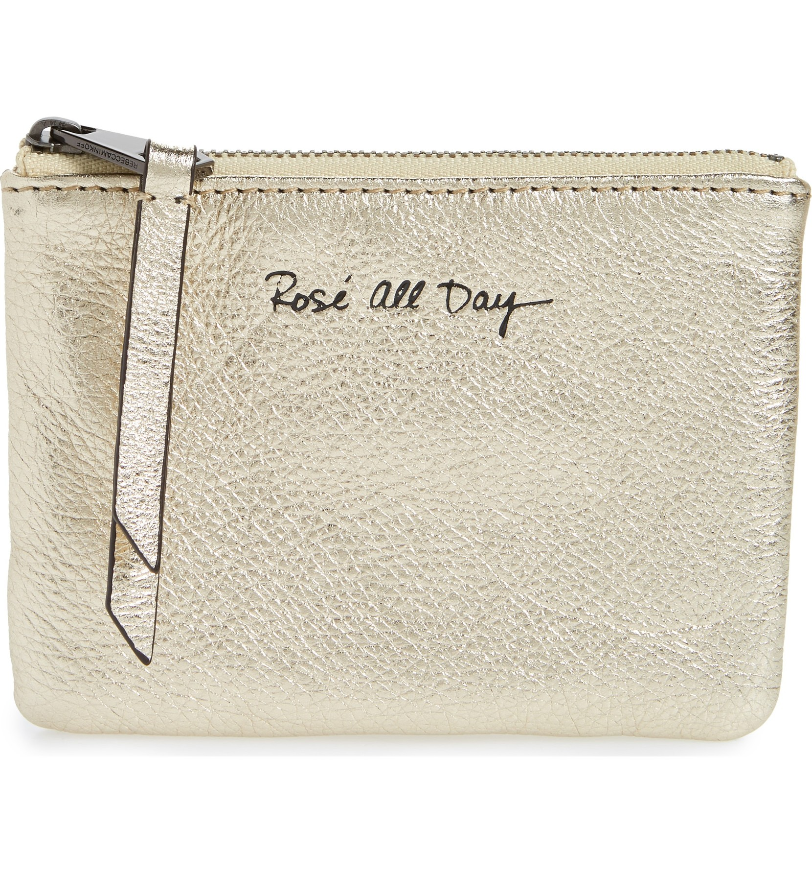Betty Rosé All Day Leather Zip Pouch was $50 and is now $33.49. Indulge in this chic metallic-leather zip pouch stamped with a witty catchphrase and —naturally— done in a champagne hue.<p>(Image: Nordstrom)</p>