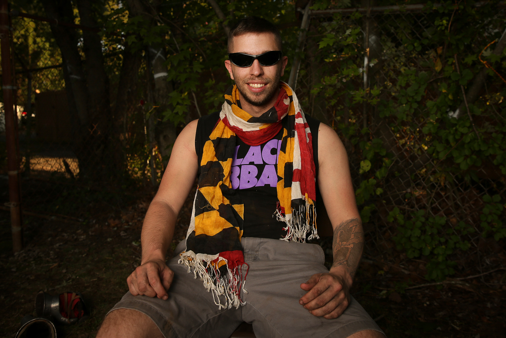 Ben Sugarman is a member of the Baltimore Huns. For him, the appeal is the adrenaline rush - &quot;nothing beats it,&quot; Ben said. &quot;I've also been a huge nerd my entire life, so this seemed like the next step. I love to take things to the extreme.&quot;{&amp;nbsp;}(Amanda Andrade-Rhoades/DC Refined)<p></p><p></p>