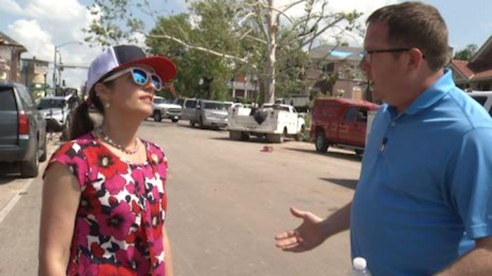 WEB EXCLUSIVE: Mayor Carrie Tergin walks through Jefferson City tornado damage cleanup